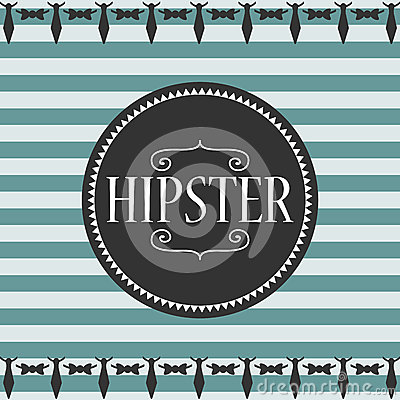 Stripey card hipster style