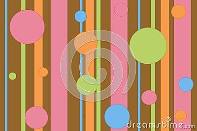 Stripey polka dot background