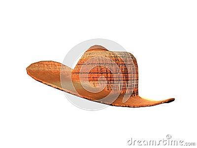 Stripped Cowboy Hat