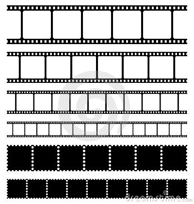 Strips film and stamps set