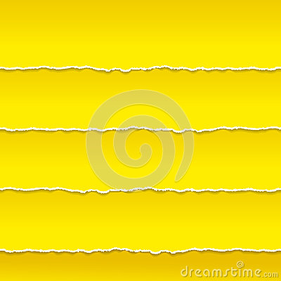 Strips Of Orange Paper Ragged Edge Vector Stock