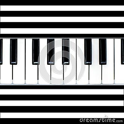 Stripy piano abstract