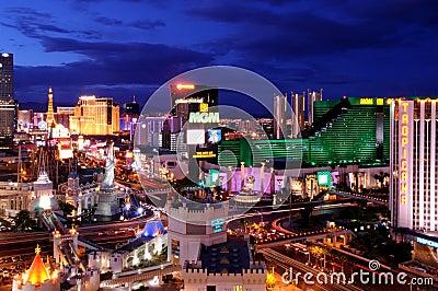 Striscia di Las Vegas Immagine Editoriale