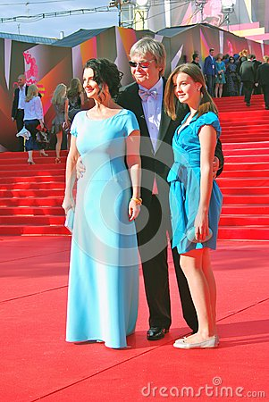 Strizhenovs family at Moscow Film Festival Editorial Stock Image