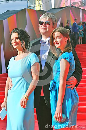 Strizhenovy at Moscow Film Festival Editorial Stock Photo