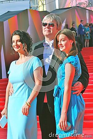 Strizhenovy at Moscow Film Festival Editorial Stock Photo