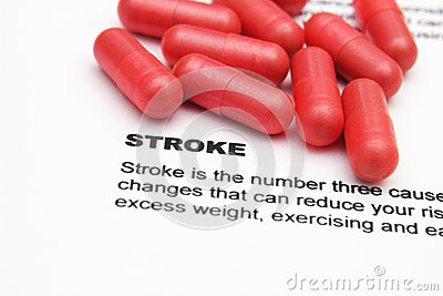 Stroke and pills concept