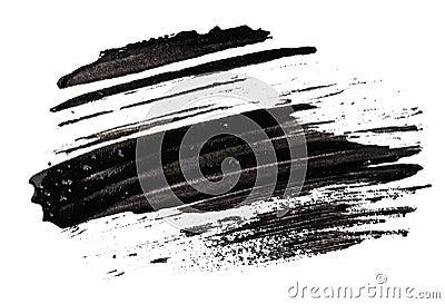 Stroke (sample) of black mascara