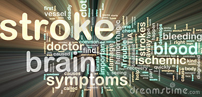 Stroke wordcloud glowing