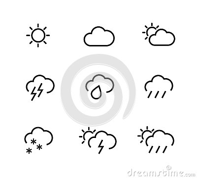 Stroked weather icons
