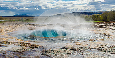 Strokkur Geyser before eruption