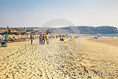 A stroll on the beach Editorial Photo