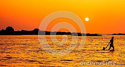 Stroll de coucher du soleil