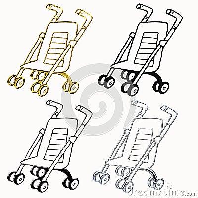 Stroller cane