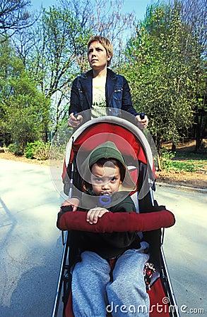 Stroller in park