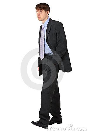 Strolling young business man