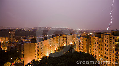 Strom over Bratislava habitation