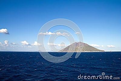 Stromboli volcano island near Sicily