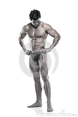 Strong Athletic Man Fitness Model Torso showing muscular body