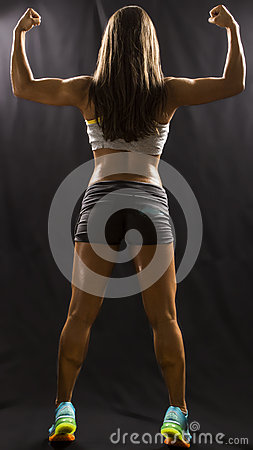 Free Strong Back Of A Fitness Model Stock Photos - 42655143