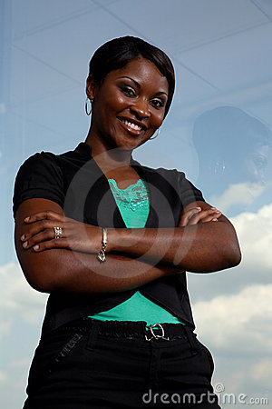 Free Strong Black Business Woman Royalty Free Stock Photography - 2584387