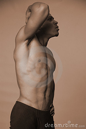 Strong Black Man Stock Photo Image 1001460