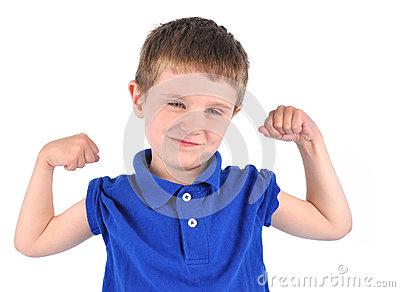 Strong Boy with Tough Muscle