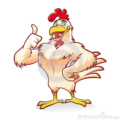Free Strong Chicken Royalty Free Stock Photos - 28000878