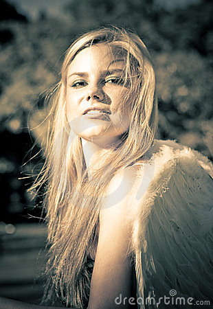 Strong Confident And Beautiful Female Angel