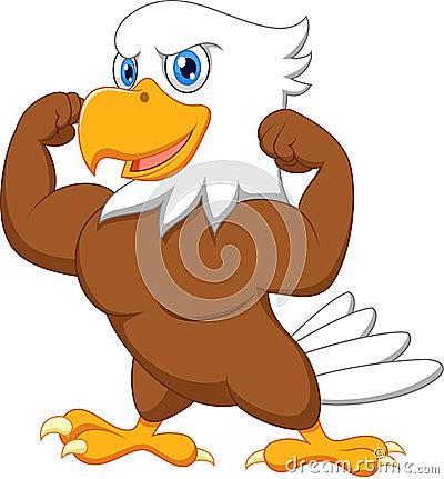 Free Strong Eagle Cartoon Royalty Free Stock Photos - 33236088