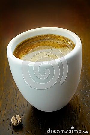 Strong fresh espresso coffee