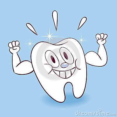 Strong healthy tooth