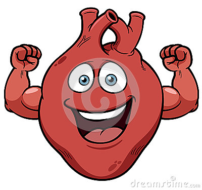 Strong Heart Cartoon Stock Images - Image: 32226984