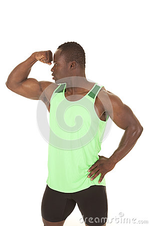 Strong man fitness flex arm