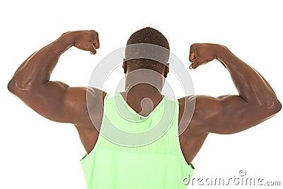 Strong man flex back