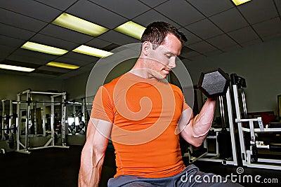 Strong Man Lifting Weights