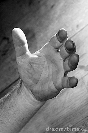 Strong open hand Stock Photo