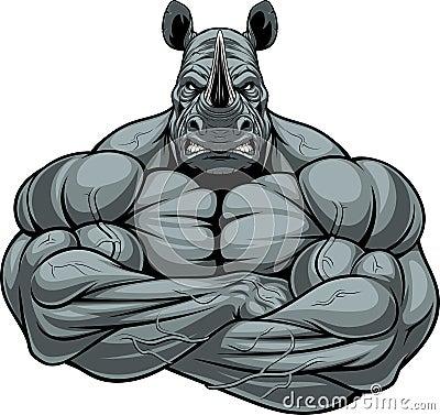 Free Strong Rhinoceros Athlete Stock Photo - 80727360