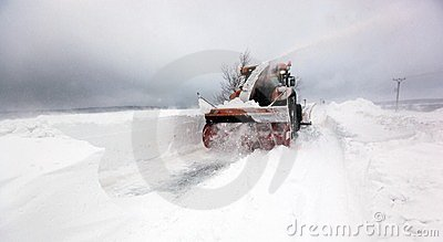 Strong winds and snow Editorial Stock Photo