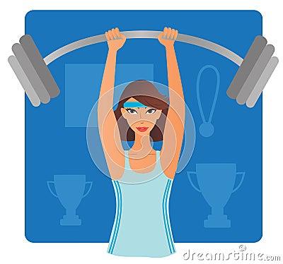 Strong Woman Clip Art Strong-woman-bar-bell-19966358 jpgStrong Girls Clipart