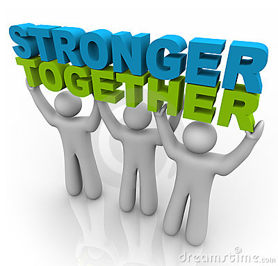 Free Stronger Together - Lifting The Words Royalty Free Stock Photos - 15778978