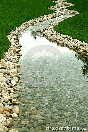 Stroom en rivier van perspectief