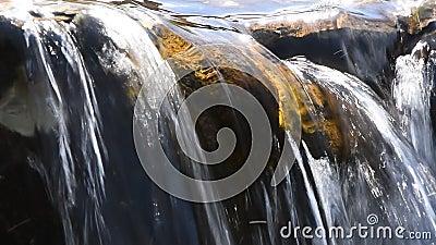 Stroom van het beek de duidelijke water met kleine spleet stock video