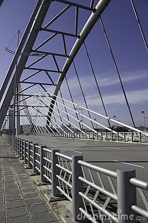 Structural steel bridge and railing