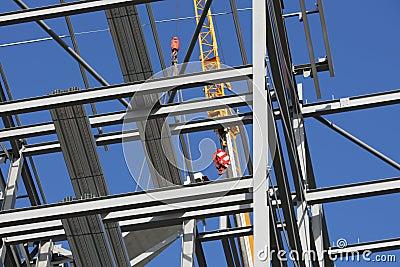 Structural Steel Framework with Crane