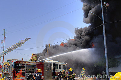 Structure fire Editorial Stock Photo