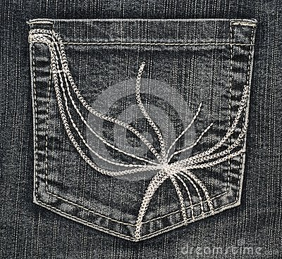 Structure of jeans (pocket)