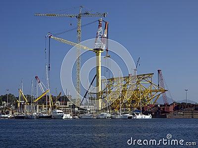 Structure port of Arbatax Sardinia