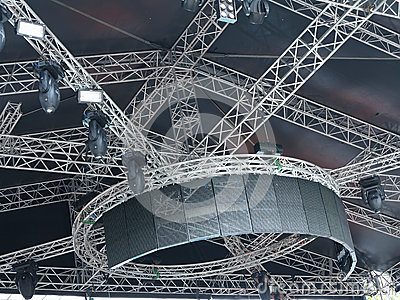 Structures of stage illumination lights