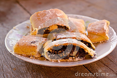 Strudel with poppy seed